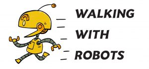 logo walking with robot