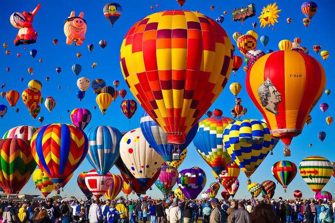 Albuquerque International Balloon Fiesta รัฐนิวแม็กซิโก สหรัฐอเมริกา