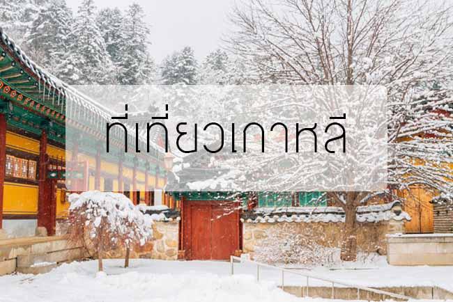 ที่เที่ยวเกาหลีหน้าหนาว สวยงาม ฟินกับบรรยากาศ